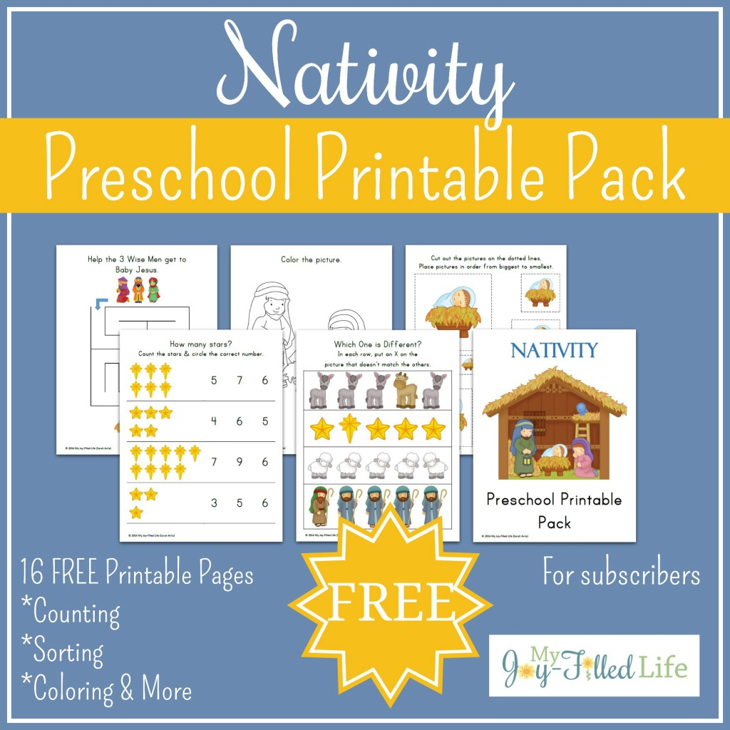 FREE Printable Nativity Preschool Pack